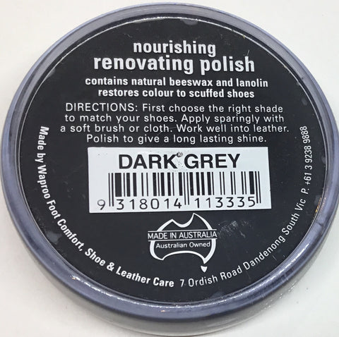 Waproo Nourishing Renovating Polish Dark Grey 45g