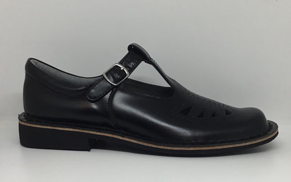 Harrison Indiana Tbar High Shine Leather School Shoe