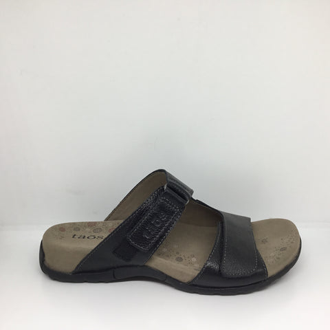 Taos Habana Leather Black Slide