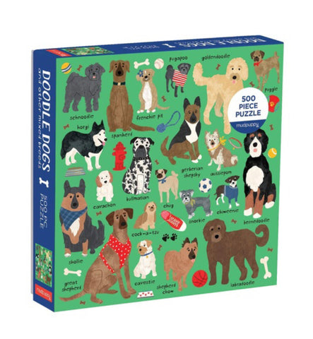 Puzzle Mudpuppy Doodle Dogs 500 pieces ages 8-99 years