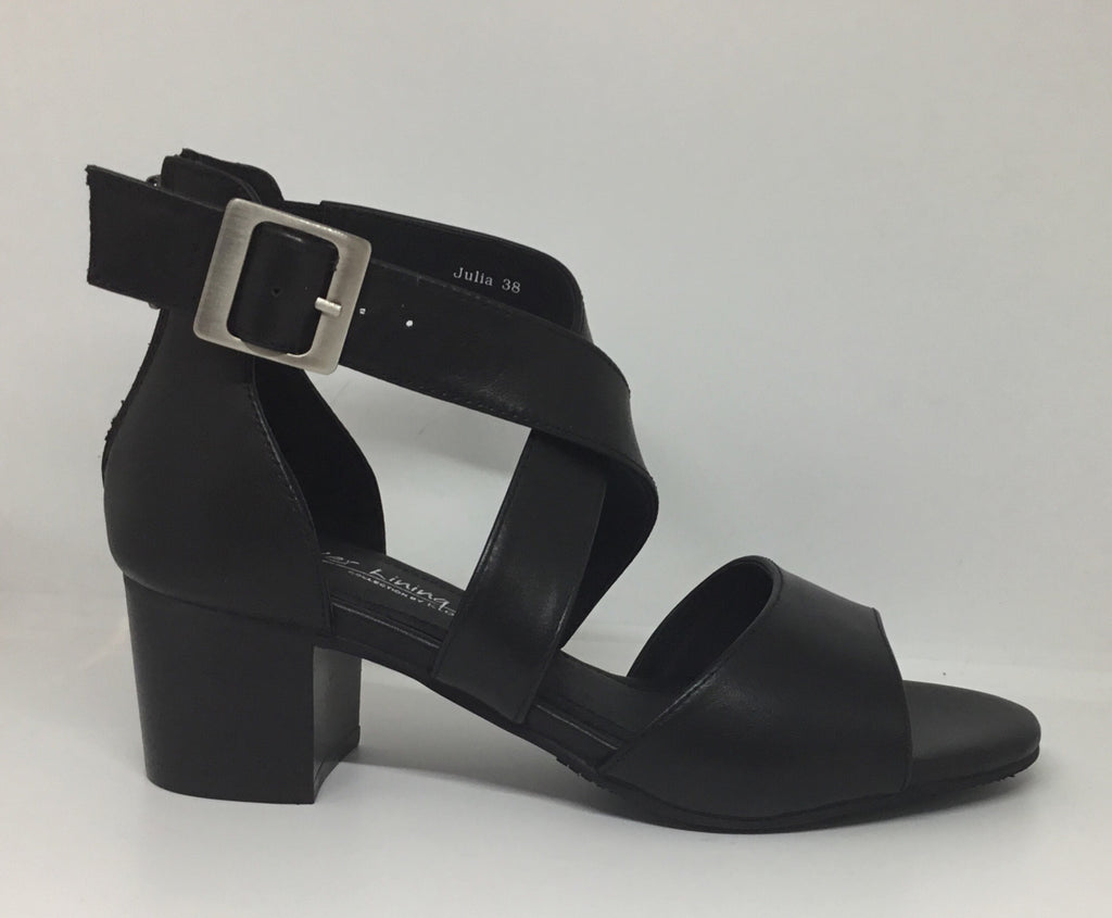 Klouds Silver Lining Julia Black Leather Heel