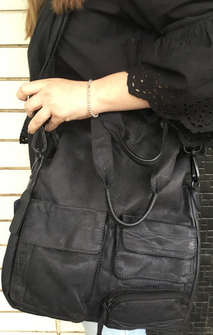 Modapelle Black Midnight Leather Bag 3835