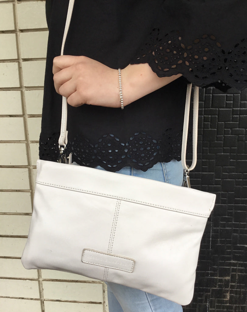 Cosgrove & Beasley White Leather Bag