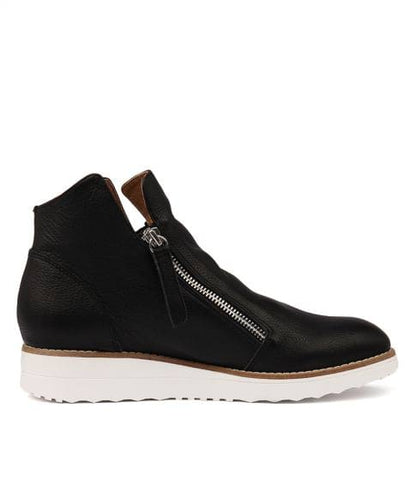 Top End Ohmy Black Leather boot