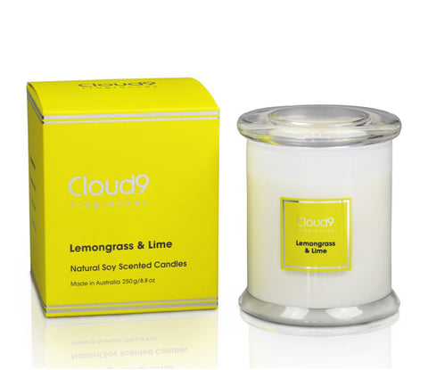 Cloud 9 Fragrances Lemongrass & Lime Jar Candle 250g