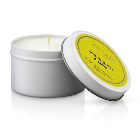 Cloud 9 Fragrances Lemongrass & Lime Tin Candle 150g