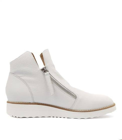 Top End Ohmy White Leather boot
