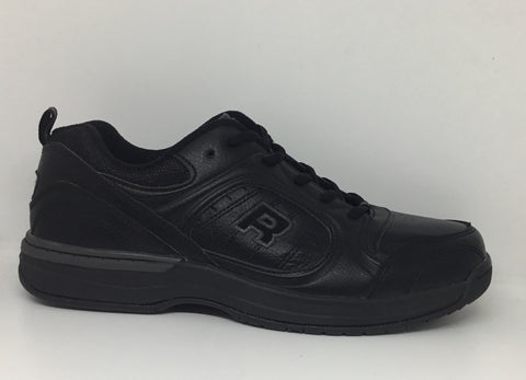ROC Atlanta Black Leather School Shoe