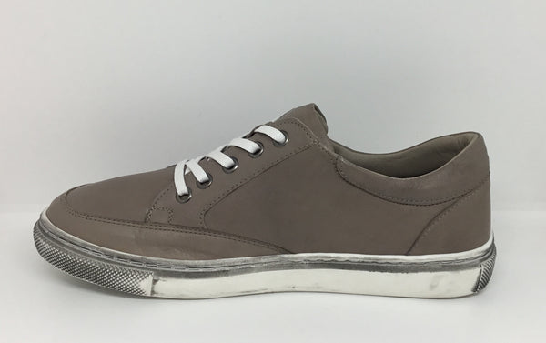Sala Ronnie Taupe Leather Zip Shoe