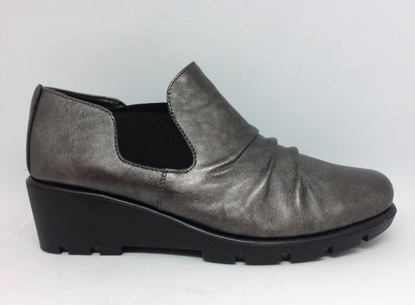 The Flexx Stockist The Flexx Sluppiest Gunmetal Metallic Wedge