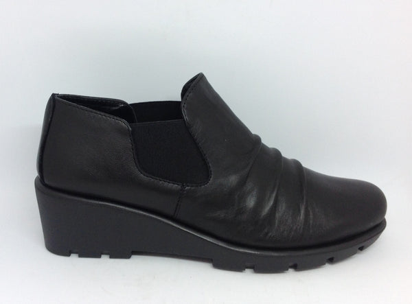 The Flexx Stockist The Flexx Sluppiest Black Leather Wedge