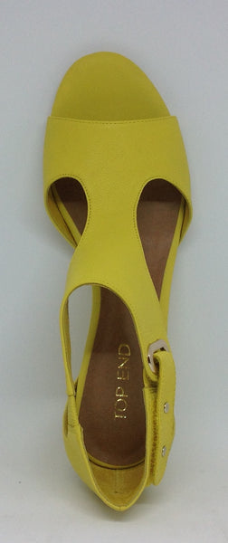 Top End Unico Yellow Leather Wedge