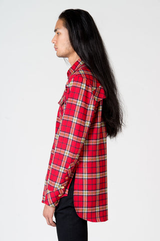 OLIVER YOUNG RED RODEO PLAID SHIRT