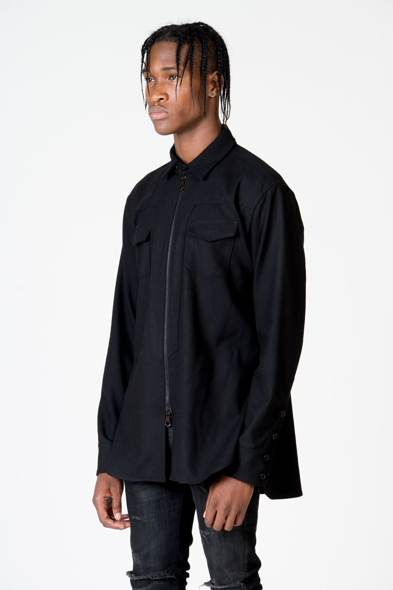 OLIVER YOUNG SOLID BLACK RODEO SHIRT