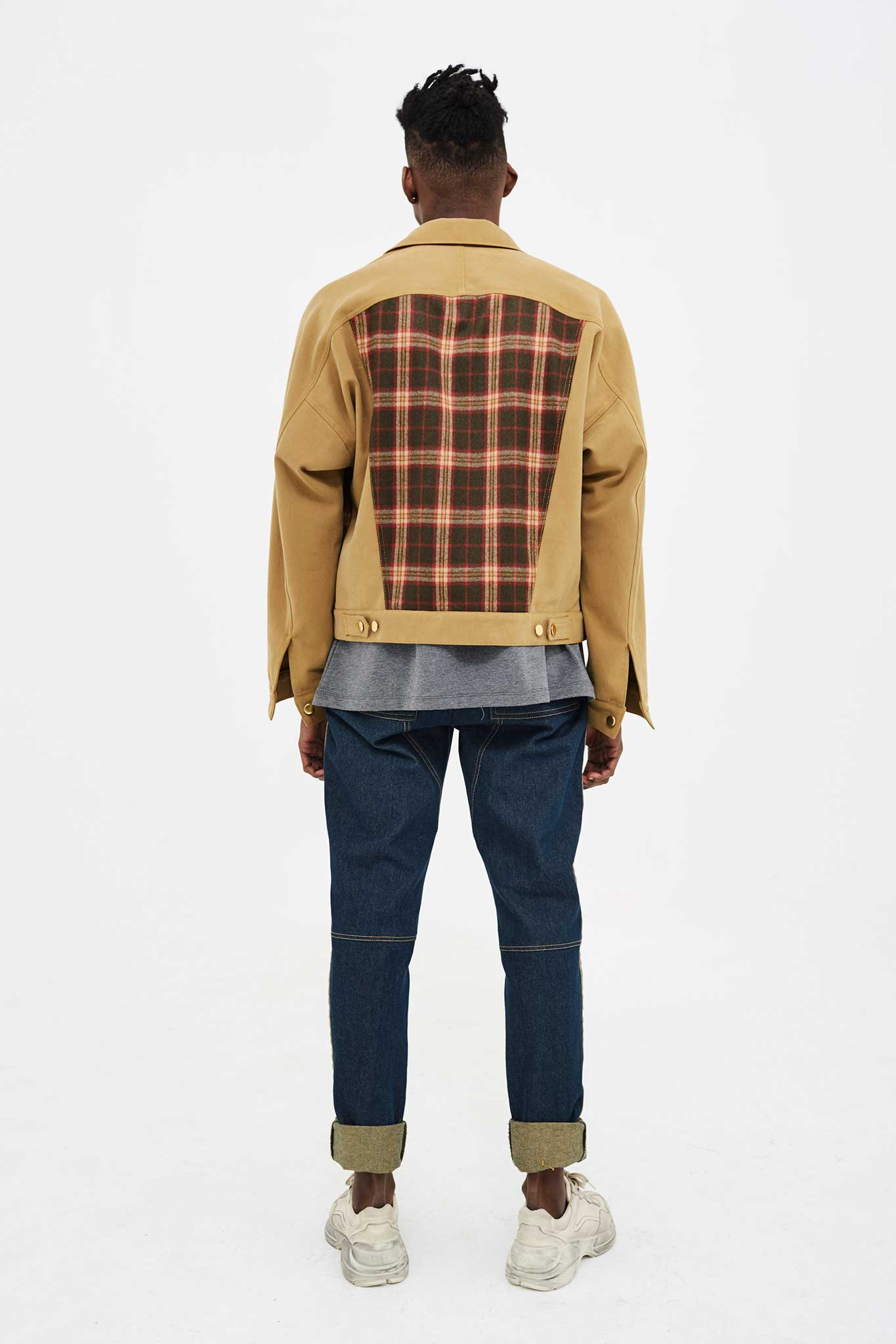 DENIM X TARTAN (GREEN) JACKET