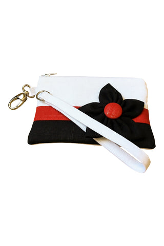Go Team! Red and Black Stadium Wristlet