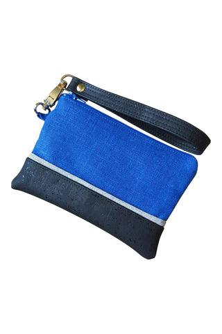 Go Team! Blue and Black Stadium Wristlet