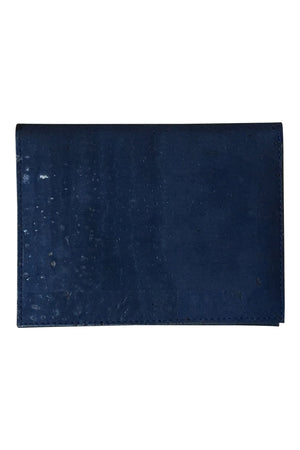 Navy Slim Cork Wallet