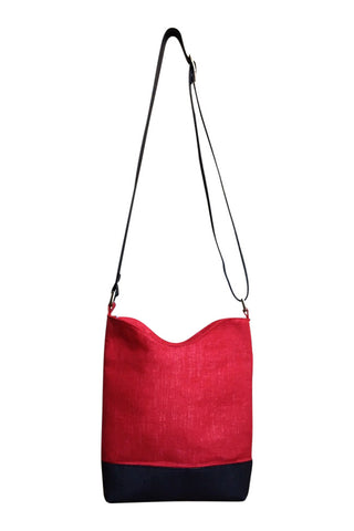Go Team! Red and Black Medium Crossbody