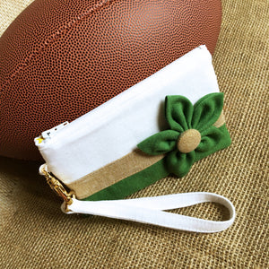 Go Team! Green and Gold Stadium Wristlet