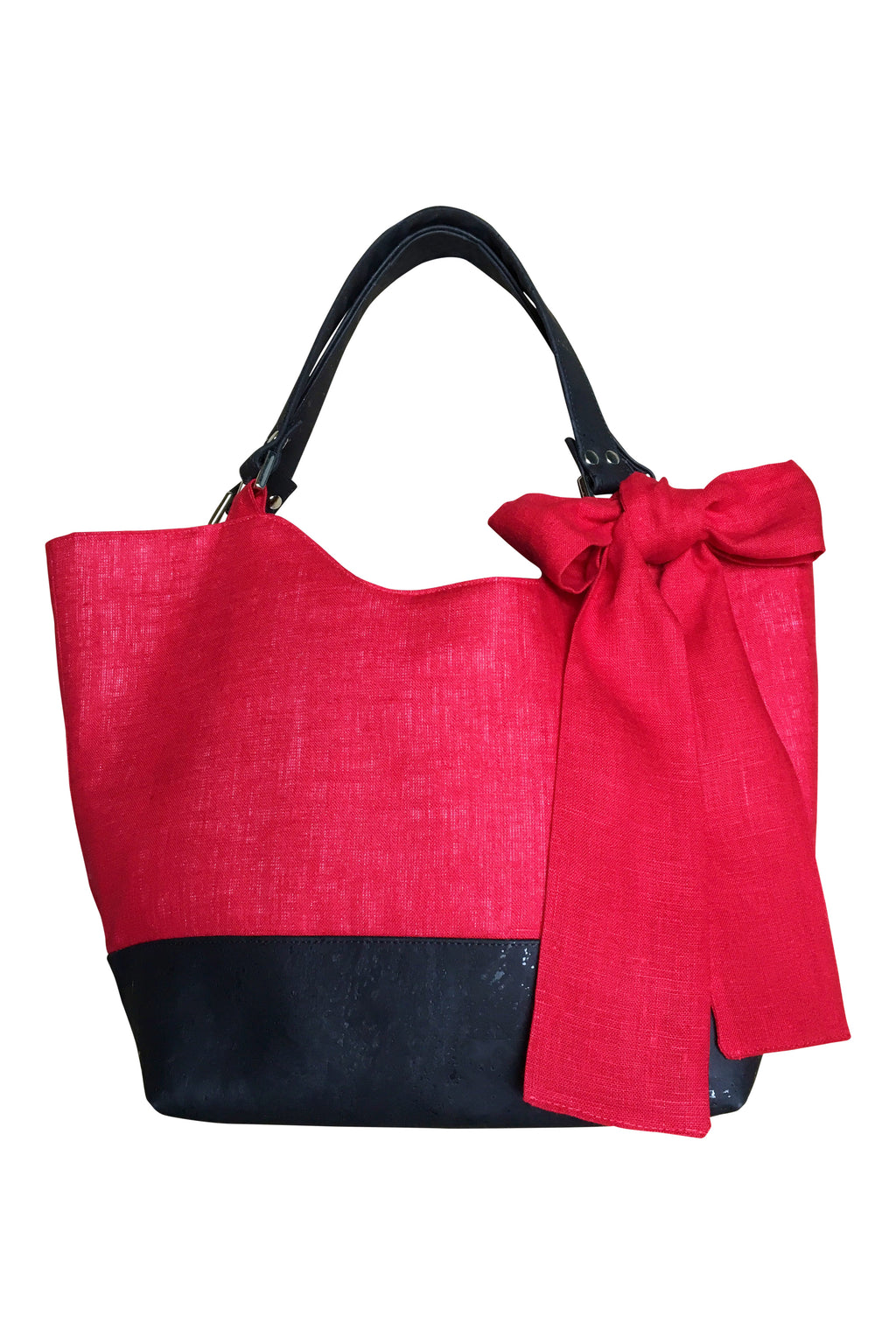 Go Team! Red and Black Cabana Tote