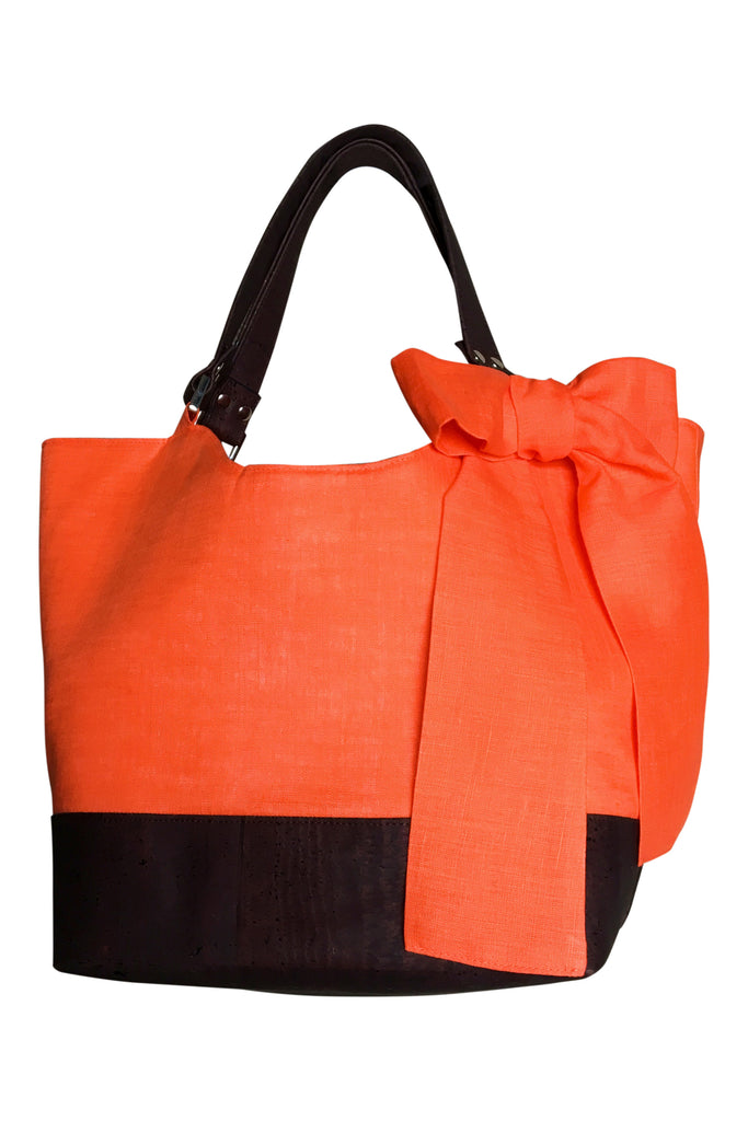 Go Team! Orange and Brown Tote