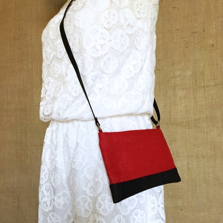 Go Team! Red and Black Small Crossbody