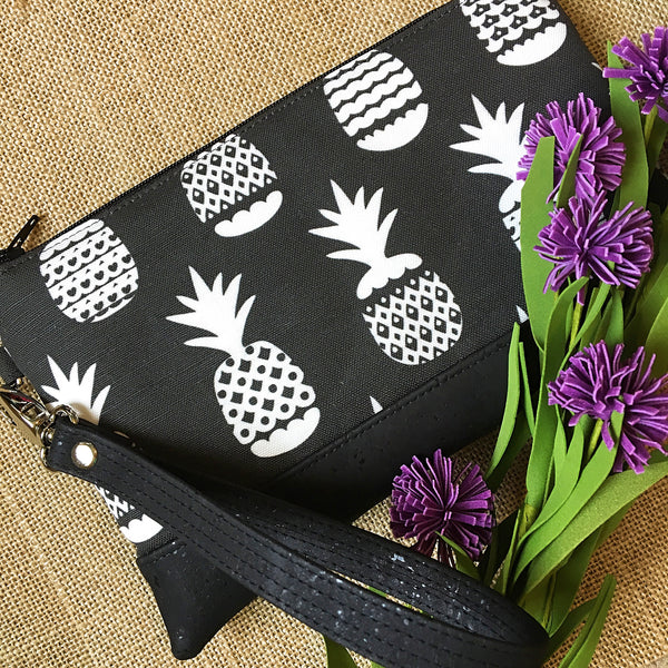 St. Lucia Midnight Pineapple Wristlet