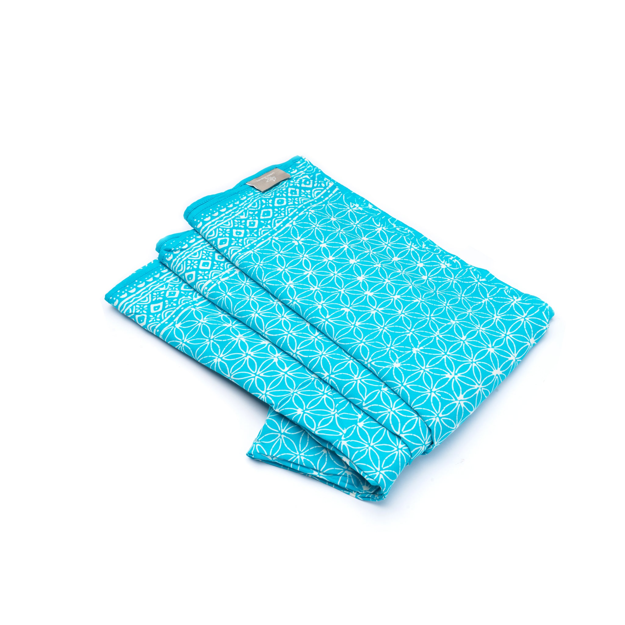 Sarong Flower of Life aqua
