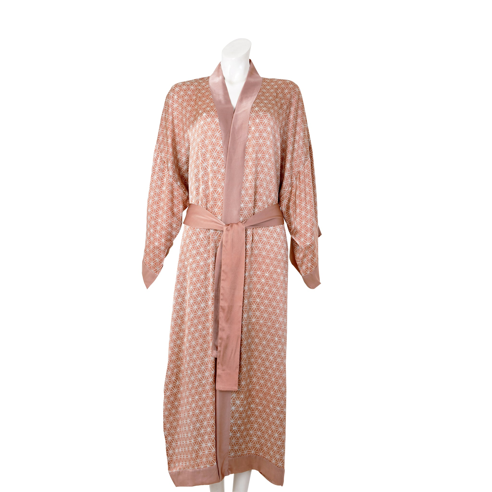 Seidenkimono Flower of Life, beige