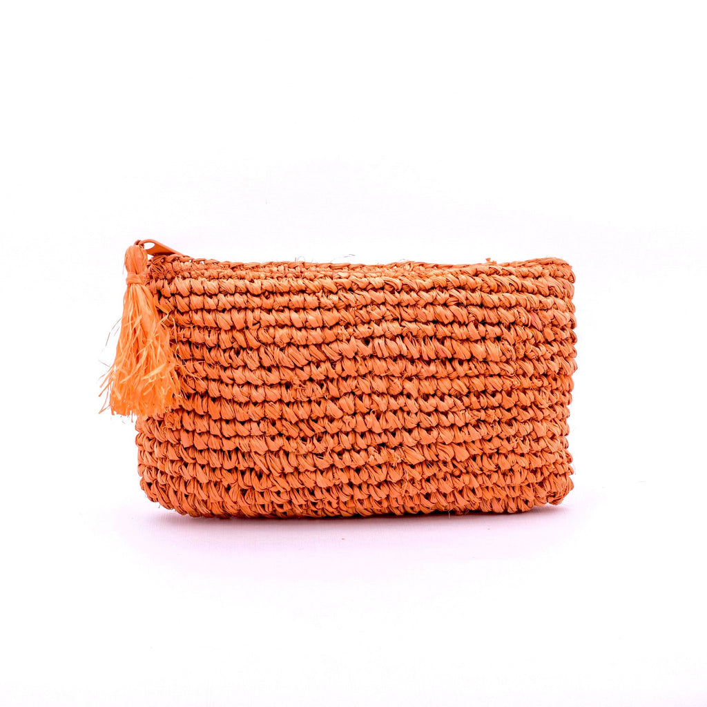 Seegrass Clutch klein, orange