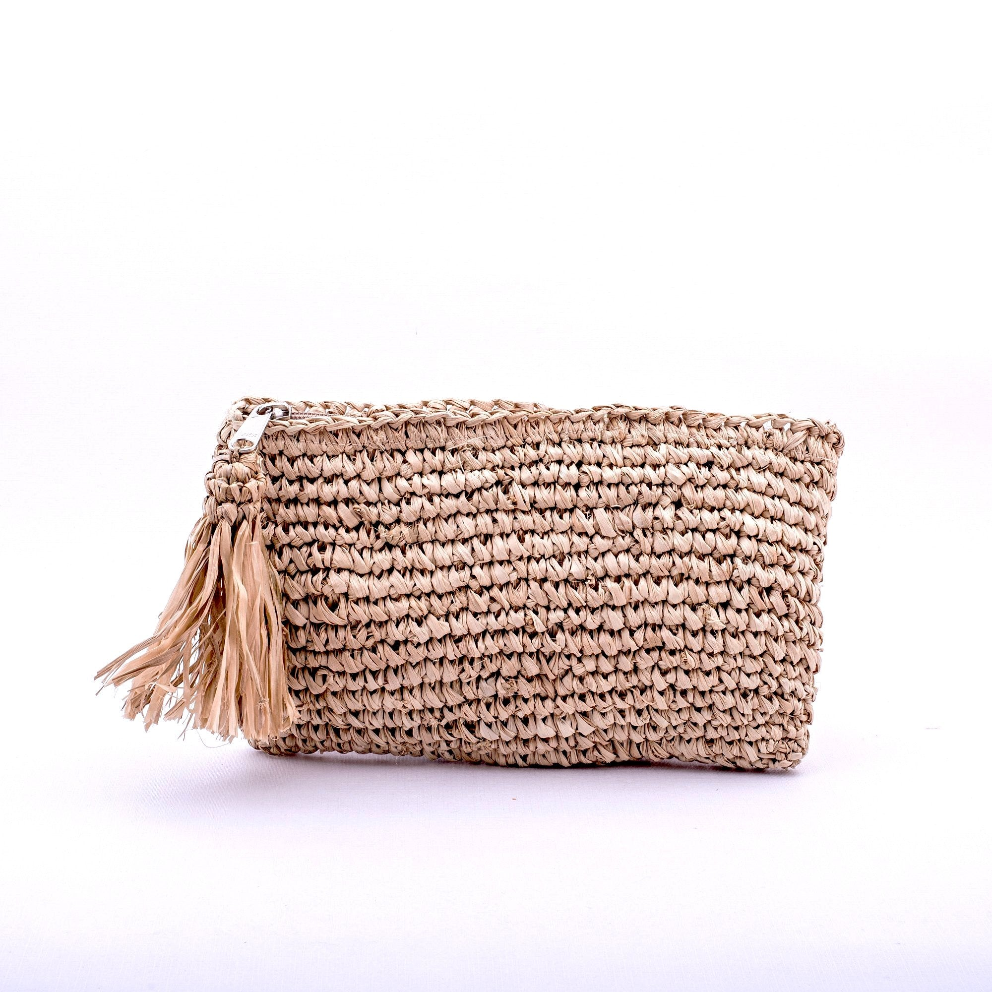 Seegrass Clutch klein, nature