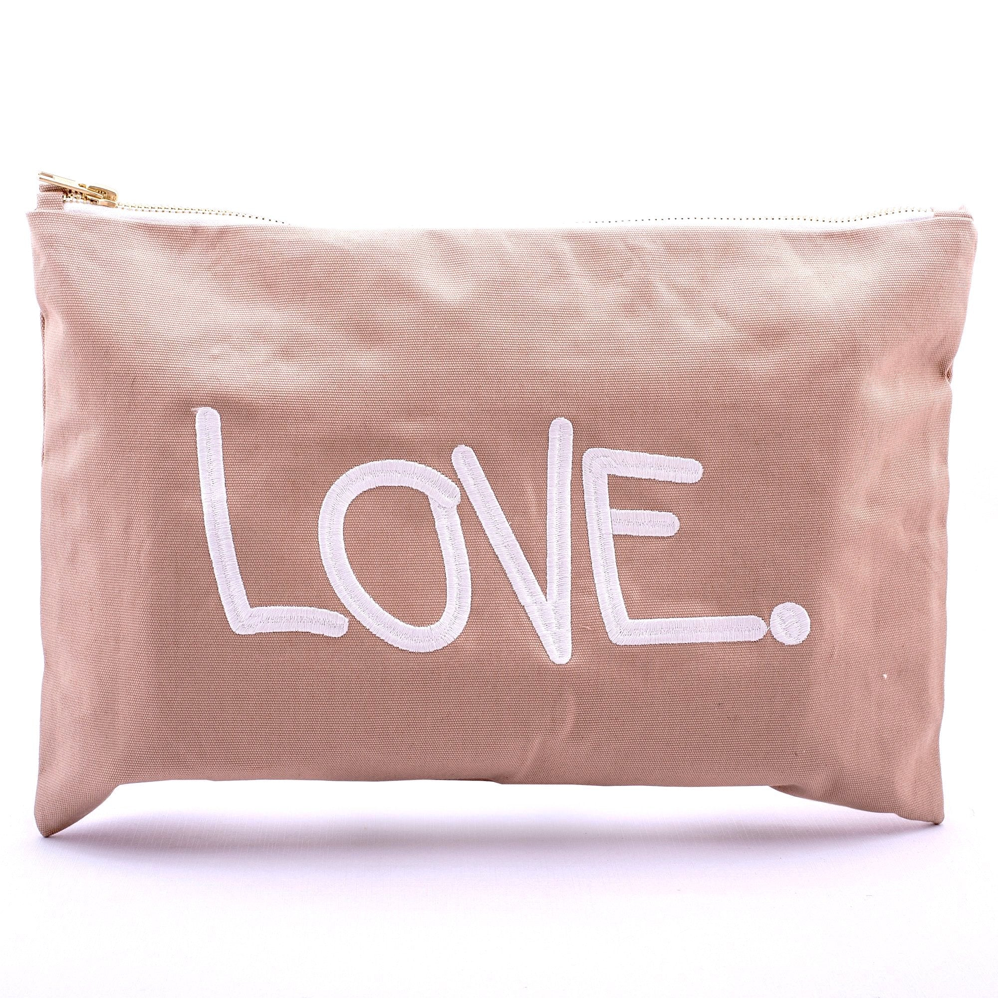 LOVE. Pouch gross, beige