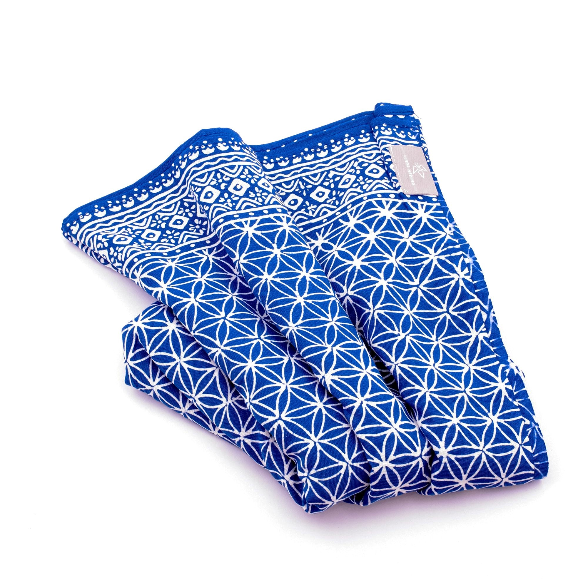 Sarong Flower of Life blau