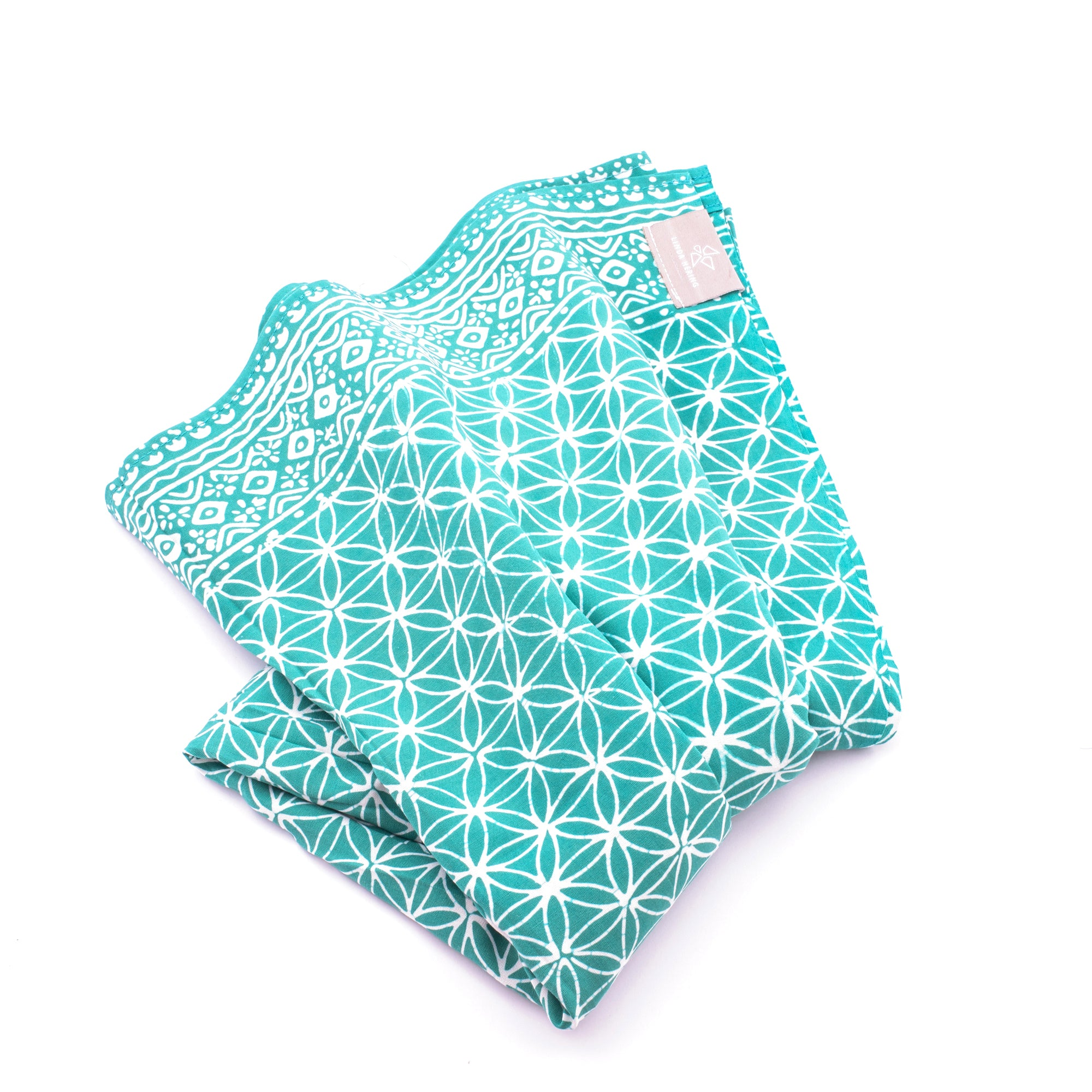 Sarong Flower of Life türkis