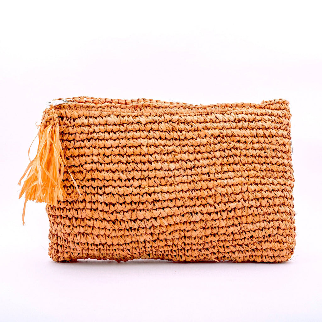 Seegrass Clutch gross, orange