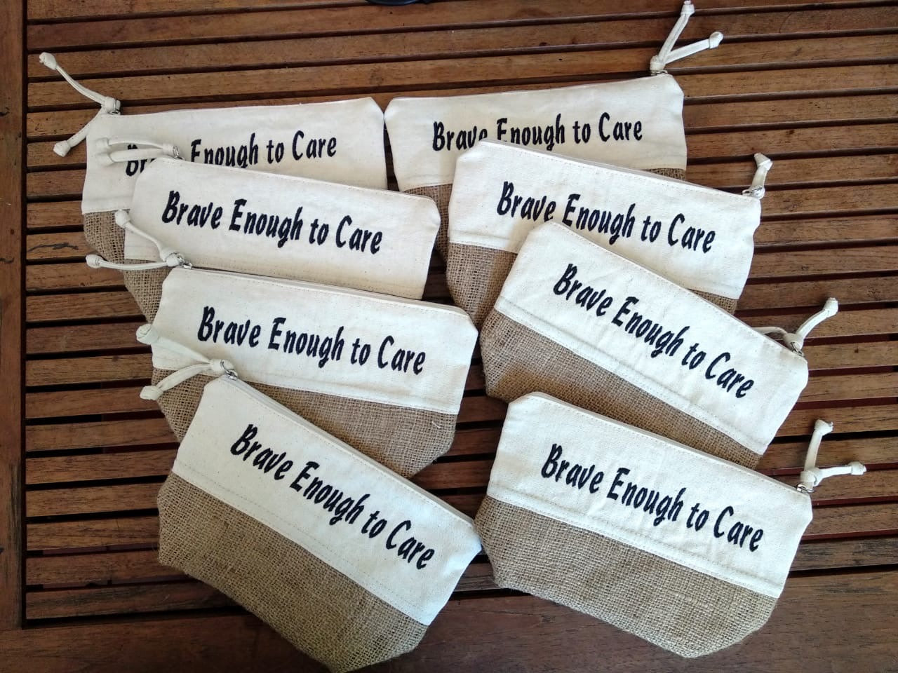 """Brave enough to care"" Necessaire"