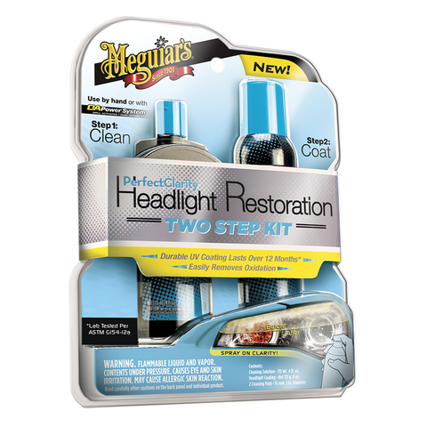 Набор для восстановления фар Perfect Clarity Headlight Restoration Two Step Kit