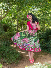 Audrey dress in Botanical Bloom by Cherry Bomb Vintage Couture