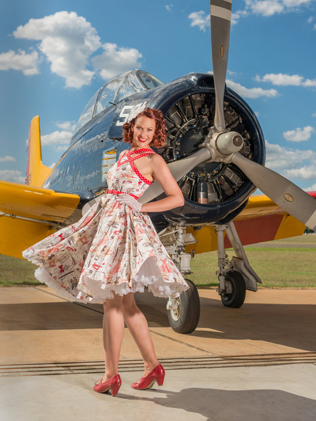 Brigitte A Stitch in Time dress  by Cherry Bomb Vintage Couture