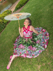 Brigitte dress in Botanical Bloom by Cherry Bomb Vintage Couture