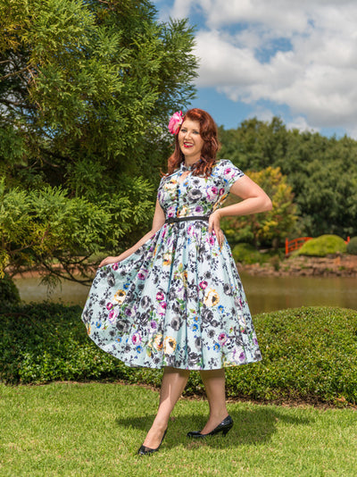 Eva Belle Fleur dress by Cherry Bomb Vintage Couture