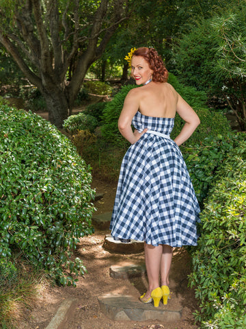 'Navy Gingham' Lucille