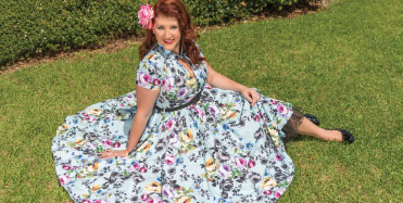 Pinup Perfection in cherry bomb vintage couture