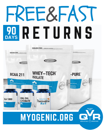Myogenic Returns Refund Policy