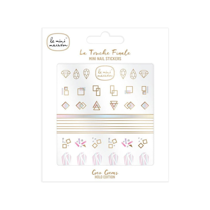 """La Touche Finale"" Mini Nail Stickers - Geo Gems Le Mini Macaron"