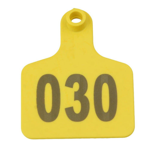 001-100 Cattle Number Ear Tags 5x4cm Yellow Cow Sheep Goat Small Livestock Label-Rooster Farms-ozdingo