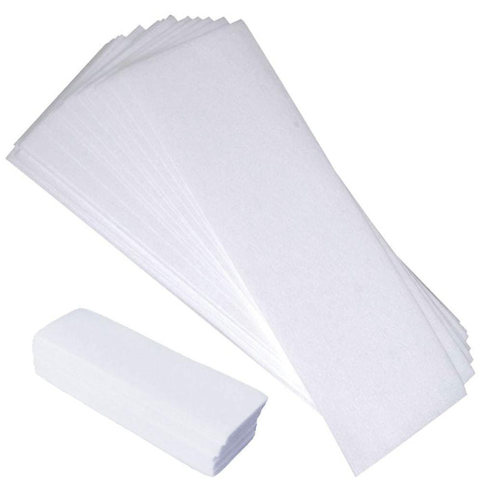 100x Pre-Cut Strips Pack Non Woven Disposable 70gsm Wax Waxing Papers Cut-Rica-ozdingo