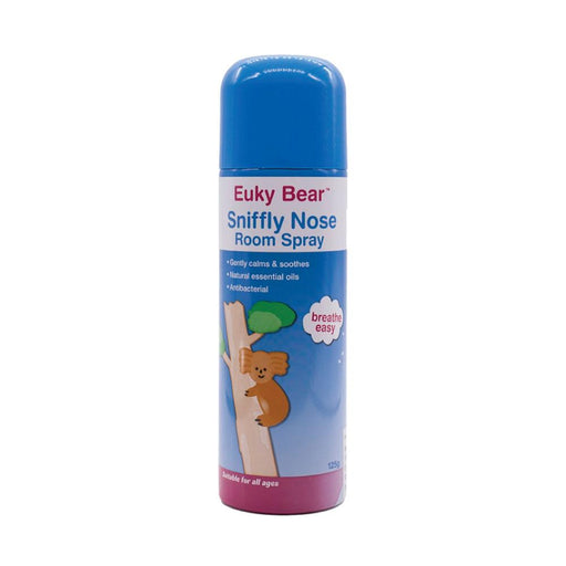 125ml Room Spray Sniffly Nose Euky Bear Natural Antibacterial Sleep Breathe Calm-Euky Bear-ozdingo