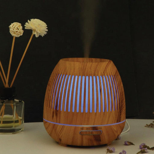 300ml Essential Oil Aroma Diffuser Wood Hallow Ultrasonic Aromatherapy Air Mist-GX Diffusers-ozdingo